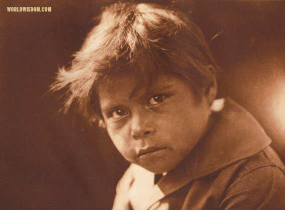 """A Comanche child"", by Edward S. Curtis from The North American Indian Volume 19"