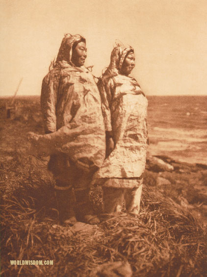 """Waterproof parkas"" - Nanivak, by Edward S. Curtis from The North American Indian Volume 20"