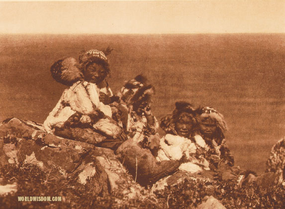 """Holiday costume"" - Nanivak, by Edward S. Curtis from The North American Indian Volume 20"