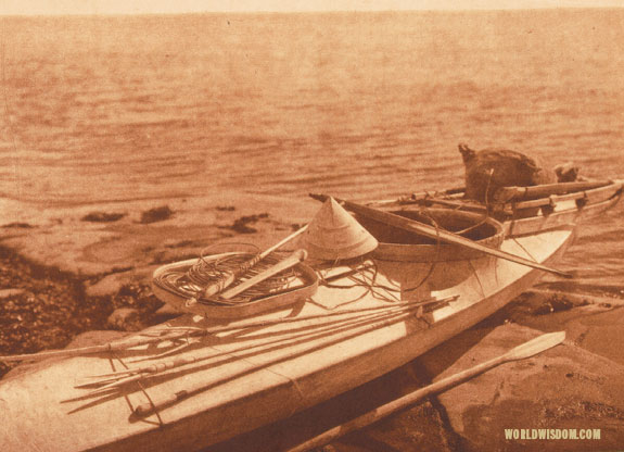 """Kaiak with seal hunting equipment"" - Nanivak, by Edward S. Curtis from The North American Indian Volume 20"