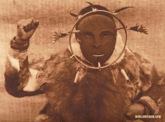"""Ceremonial mask"" - Nanivak, by Edward S. Curtis from The North American Indian Volume 20"