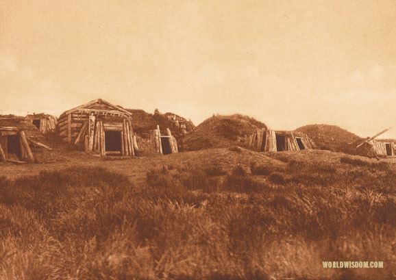 """Hooper Bay homes"", by Edward S. Curtis from The North American Indian Volume 20"
