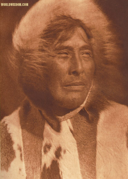 """Nuktaya"" - Eskimo of King Island, by Edward S. Curtis from The North American Indian Volume 20"