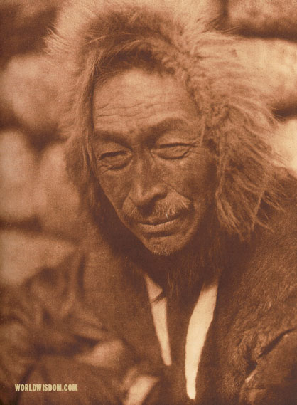 """Siluk"" - Eskimo of Little Diomede Island, by Edward S. Curtis from The North American Indian Volume 20"
