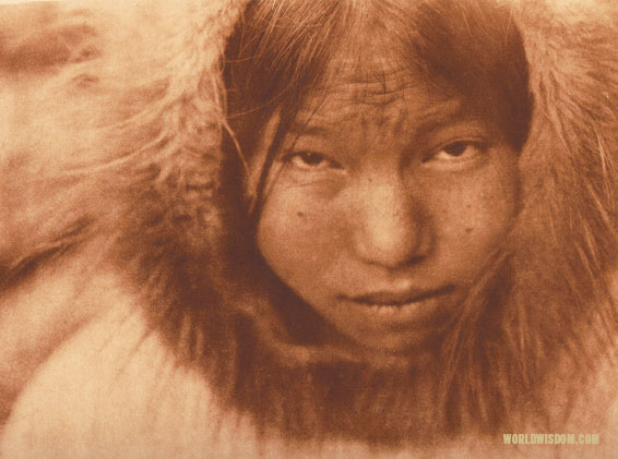 """Diomede girl"", by Edward S. Curtis from The North American Indian Volume 20"