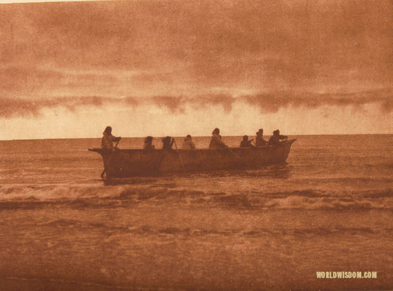 """Start of whale hunt"" - Eskimo of Prince of Wales Island, by Edward S. Curtis from The North American Indian Volume 20"