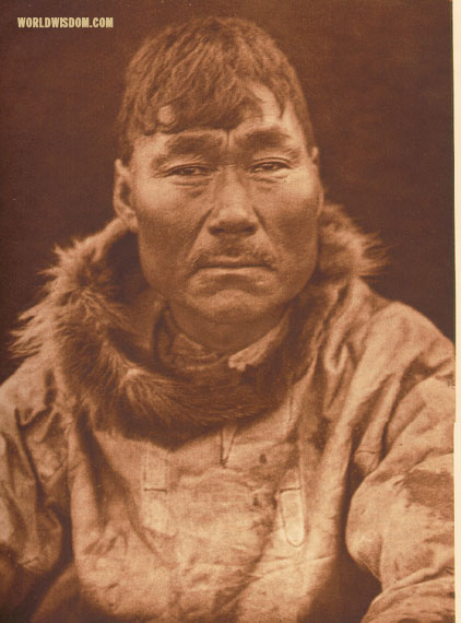 """Oksiwik"" - Eskimo of Prince of Wales Island, by Edward S. Curtis from The North American Indian Volume 20"