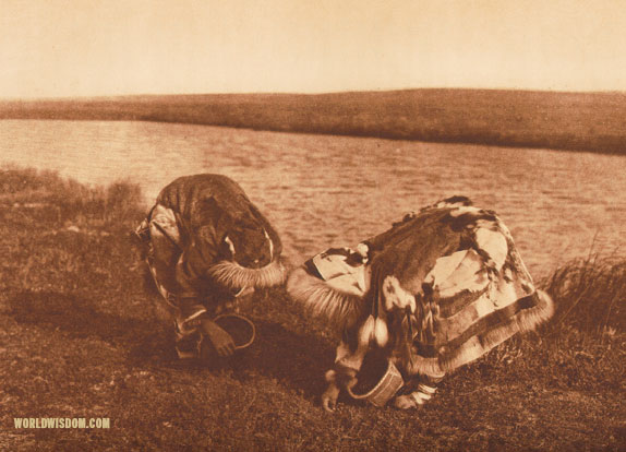 """Berry-pickers"" - Kotzebue, by Edward S. Curtis from The North American Indian Volume 20"