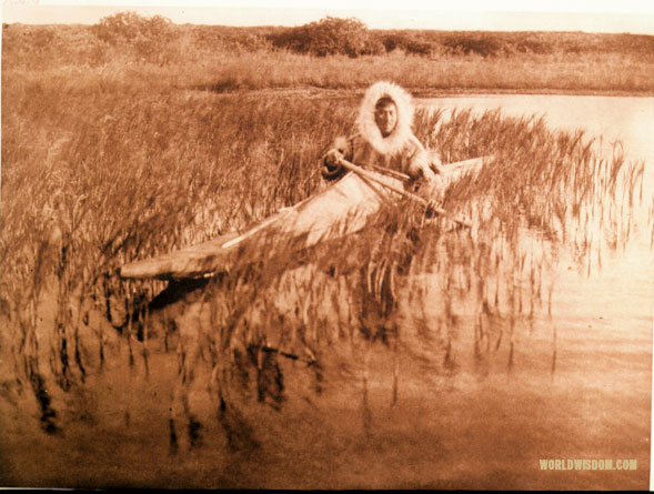 """Muskrat-hunter"" - Kotzebue, by Edward S. Curtis from The North American Indian Volume 20"