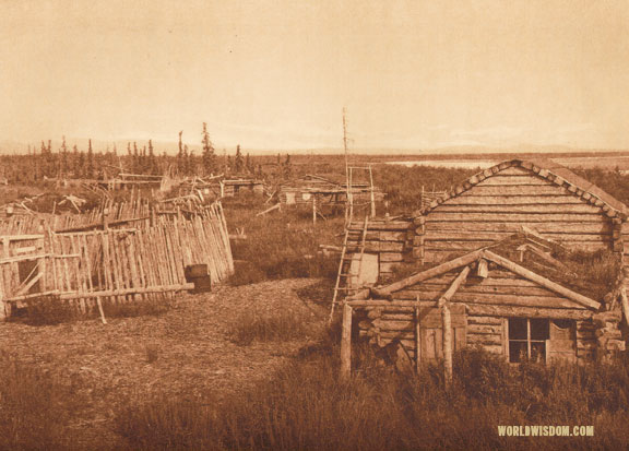"""Noatak village"", by Edward S. Curtis from The North American Indian Volume 20"