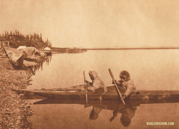 """At Noatak village"", by Edward S. Curtis from The North American Indian Volume 20"