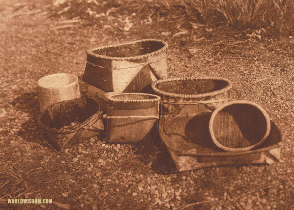 """Bark dishes"" - Noatak, by Edward S. Curtis from The North American Indian Volume 20"