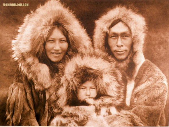 """Family group"" - Noatak, by Edward S. Curtis from The North American Indian Volume 20"