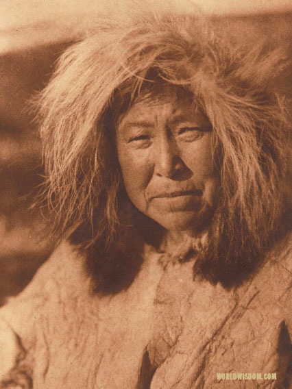 """Selawik woman"", by Edward S. Curtis from The North American Indian Volume 20"