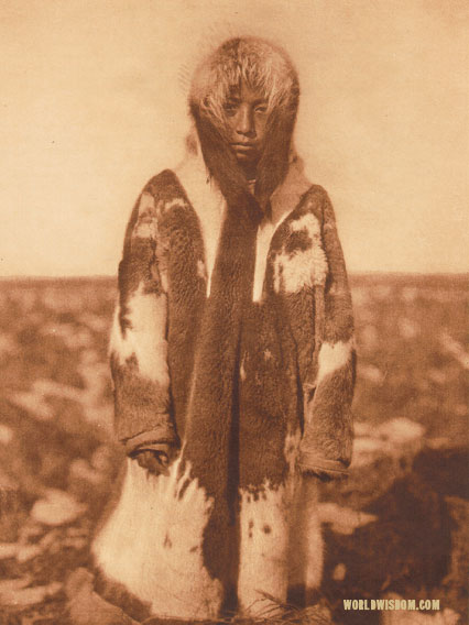 """Selawik girl"", by Edward S. Curtis from The North American Indian Volume 20"