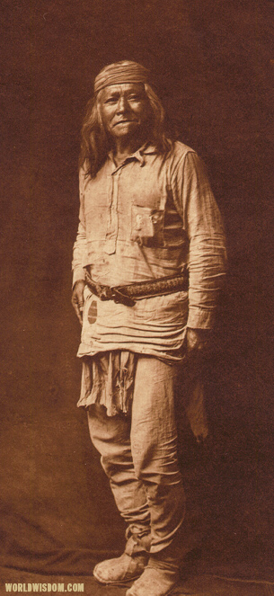 """Typical Apache"" - Apache, by Edward S. Curtis, from The North American Indian Volume 1"