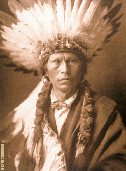 """Chief Garfield"" - Jicarilla, by Edward S. Curtis from The North American Indian Volume 1"