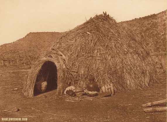 """Primitive Apache home"" - Apache, by Edward S. Curtis from The North American Indian Volume 1"