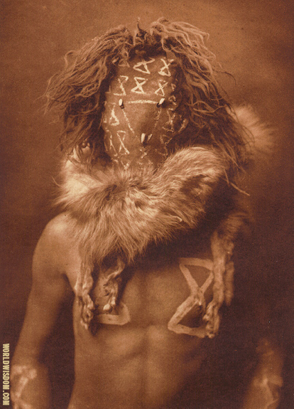 """Tobadzischini"" - Navaho, by Edward S. Curtis from The North American Indian Volume 1"