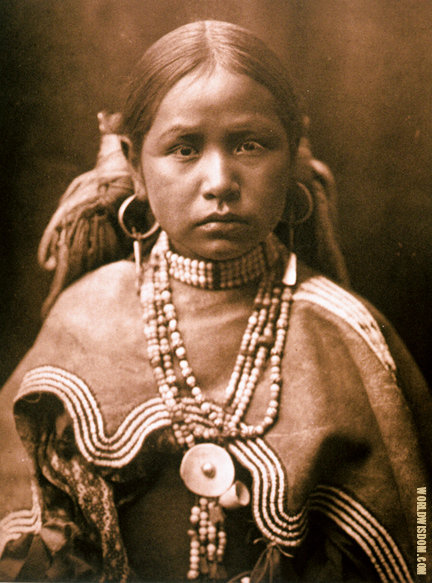 """Jicarilla maiden"" - Jicarilla, by Edward S. Curtis from The North American Indian Volume 1"