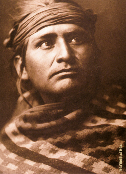"""Chief of the desert"" - Navaho, by Edward S. Curtis from The North American Indian Volume 1"