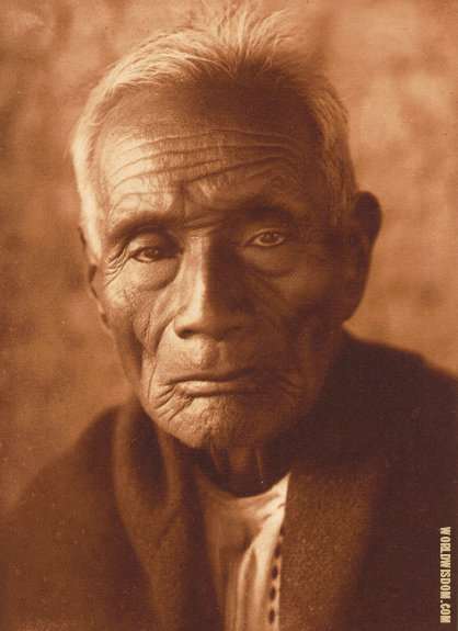 """Antonio Azul"" - Pima, by Edward S. Curtis from The North American Indian Volume 2"