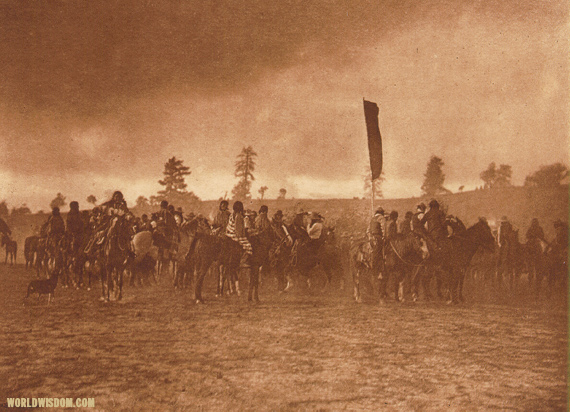 """A Jicarilla feast march"" - Jicarilla, by Edward S. Curtis from The North American Indian Volume 1"