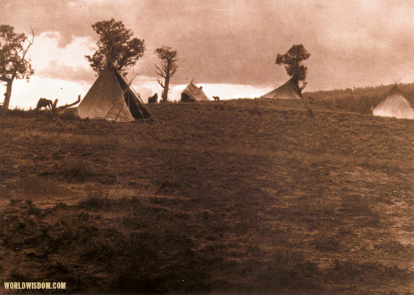 """Hilltop camp"" - Jicarilla, by Edward S. Curtis from The North American Indian Volume 1"
