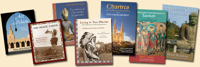 image of the covers of some of World Wisdom's illustrated books